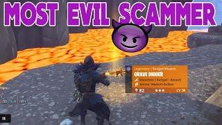 THE MOST EVIL SCAMMER EVER SCAMMED HIMSELF (Scammer Gets Scammed) Fortnite Save The World
