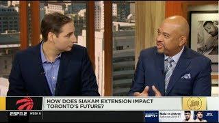 NBA The Jump | Michael Wilbon DEBATE: How does siakam extension impact Toronto's Future?