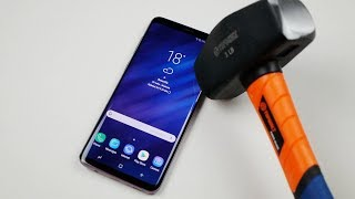 Samsung Galaxy S9 Plus Hammer & Knife Scratch Test