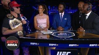 Colby Covington, Kamaru Usman get heated during UFC Fight Night Post Show   ESPN MMA