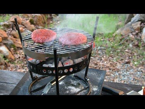CampMaid Flip Grill Hamburgers At The Cabin