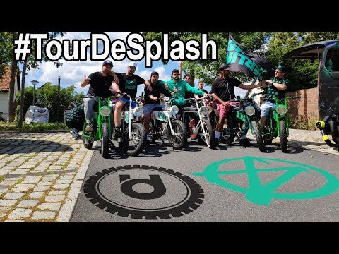 MARTERIA and GREEN BERLIN UNI MOKE Electric Bike Group Ride to SPLASH FESTIVAL 2019