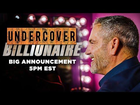 Undercover Billionaire HUGE ANNOUNCEMENT photo