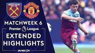 West Ham v. Manchester United | PREMIER LEAGUE HIGHLIGHTS | 9/22/19 | NBC Sports