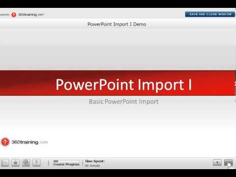 PowerPoint Import I - Basic PowerPoint Import