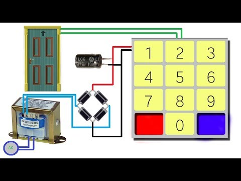 how to make digital door lock without arduino