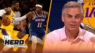 Lakers won't win title this year, LeBron wouldn't have saved Knicks' brand — Colin | NBA | THE HERD