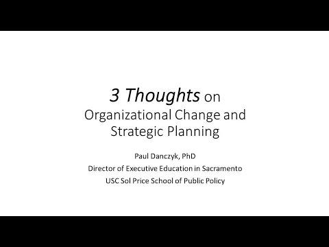 GTI2017 SEP Organizational Change and Strategic Planning - USC Price