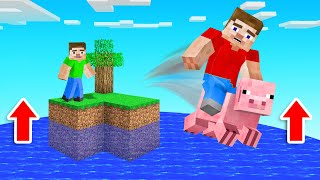 MINECRAFT Water Rises BUT You Can ESCAPE!
