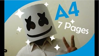 Marshmello Paper Helmet A4 7 pages by Ganeshandra