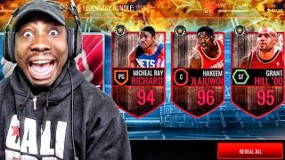 LEGEND PACK OPENING & NEW 96 HAKEEM OLAJUWON! NBA Live Mobile 16 Gameplay Ep. 84