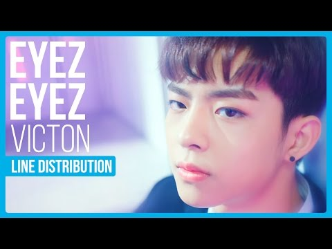 VICTON - EYEZ EYEZ Line Distribution (Color Coded)