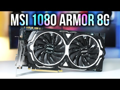 video MSI GeForce GTX 1080 Armor 8G OC