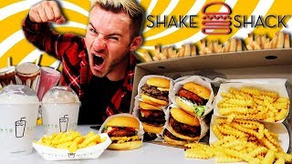 THE SUPERCHARGED SHAKE SHACK MENU CHALLENGE! (11,000+ CALORIES)