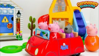 Let's Play with Peppa Pig Weebles and a fun Locking Dollhouse!