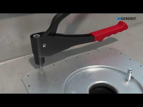 Geberit Pluvia in gutter soldered - Installation