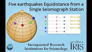 Earthquake Recorded by 5 Stations Equidistance Away (Educational