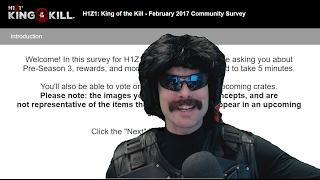 Dr Disrespect Takes the H1Z1 KOTK Survey