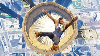 GTA 5 Jumps/Falls Ragdolls Compilation #5 (Euphoria physics - Funny Moments)
