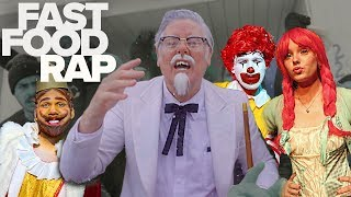 FAST FOOD CHARACTER RAP BATTLE (PARODY) ft. RON McDONALD, BK, WENDY & COL. SANDERS