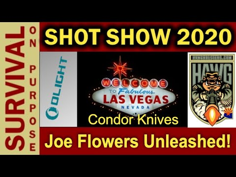 New Condor Knives - Joe Flowers Unleashed at SHOT Show 2020