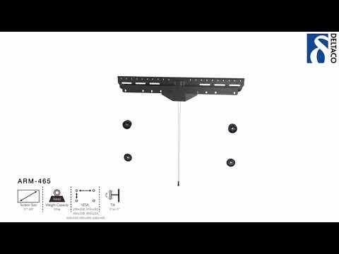 DELTACO Väggfäste för TV/Skärm - installationsanvisning ARM-465