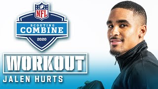 Jalen Hurts' FULL 2020 NFL Scouting Combine Workout