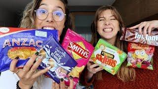Trying Australian Snacks w/ Georgia Productions
