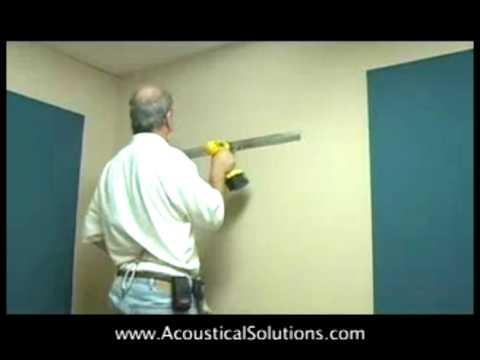 How to Install Acoustical Wall Panels Using Z-Bar