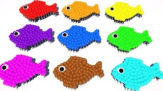 Learning Colors For Kids With 3D Colorful Fish Soccer Balls - Colours, For Children and Toddlers