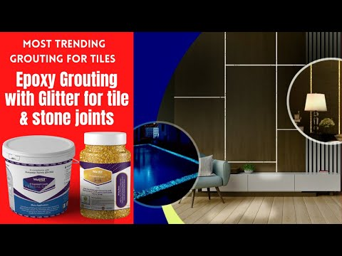 How to add Glitter to tile joints on floor or walls