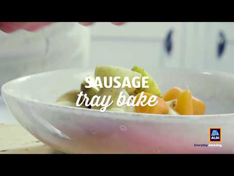 Introducing Aldi's Slow Cooker Sausage Tray Bake