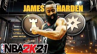 NBA 2K21 - JAMES HARDEN Playmaking Shot Creator Build 51 Badges / Dribble Tips & More