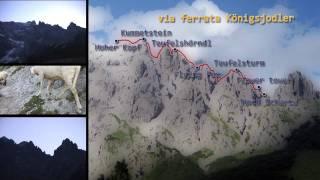Vía ferrata en los alpes austriacos