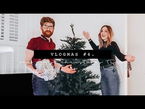OUR FIRST CHRISTMAS TREE | VLOGMAS PART FOUR | I Covet Thee