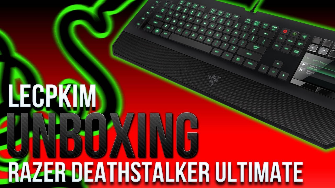 "Unboxing ""Teclado Razer Deathstalker Ultimate"" - Smashpipe Games Video"