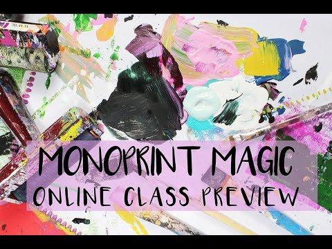 monoprint magic preview