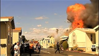 Caught on camera: Explosion during California house fire