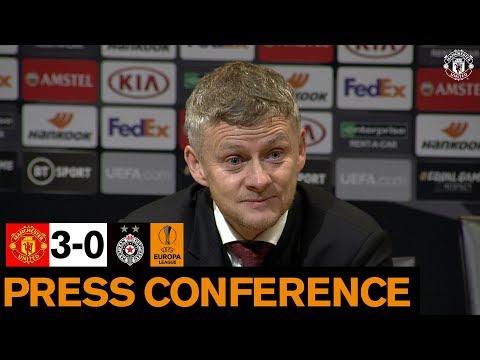 Post Match Press Conference   United 3-0 Partizan Belgrade   UEFA Europa League