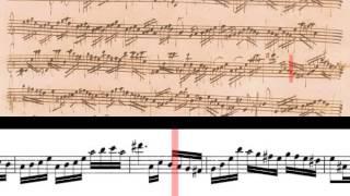 BWV 1013 - Partita in A Minor for Solo Flute (Scrolling)