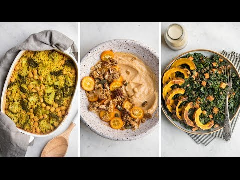 What I Eat in A Day: Healthy Fall Meals 🍁 (Vegan)