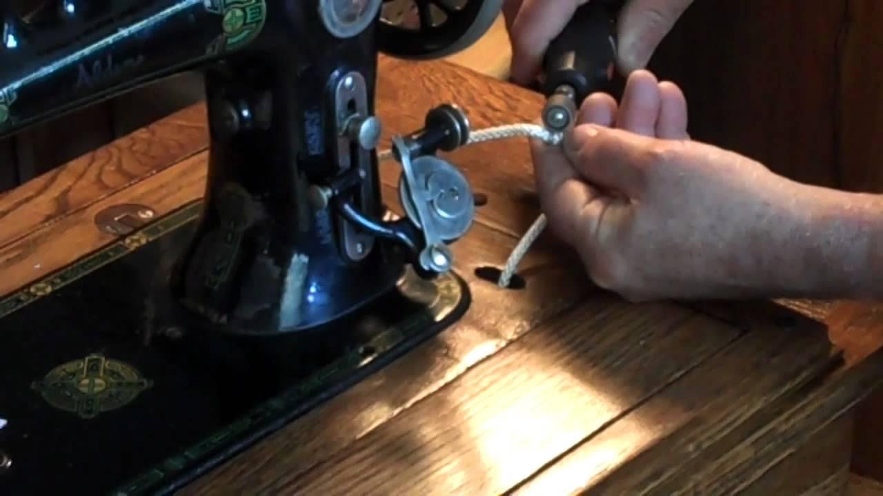 How You Can Make A Treadle Sewing Machine Belt Mp4 Youtube