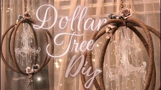 DIY ORB CHANDELIER Dollar Tree - Whimsical, French, Vintage