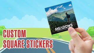 Custom Square Car Stickers