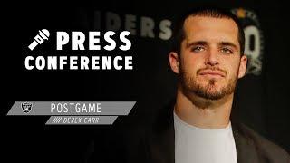 Derek Carr Postgame Presser - 11.17.19 | Raiders
