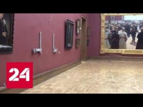 Вандала, нанесшего Третьяковке полумиллионный ущерб, арестовывать не стали - Россия 24