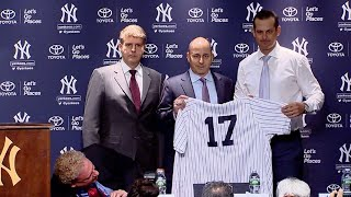 Yankees officially introduce Aaron Boone as manager