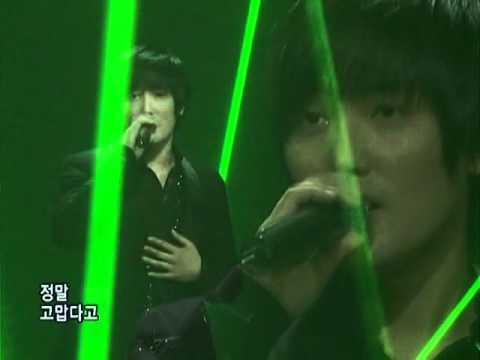 Kangta-Eternity(강타-어느날가슴이말했다)@SBS Inkigayo 인기가요 20080323