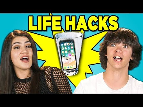 10 LIFE HACKS YOU NEED TO KNOW with TEENS (REACT)