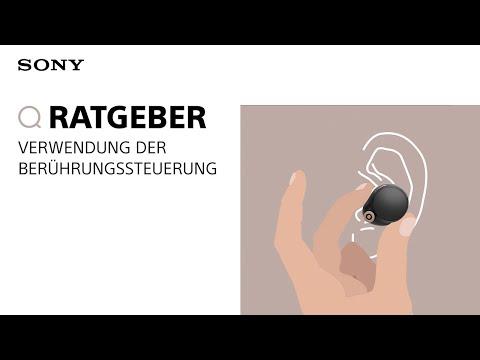 Anleitung: Verwendung der Berührungssteuerung der WF-1000XM4 Kopfhörer von Sony